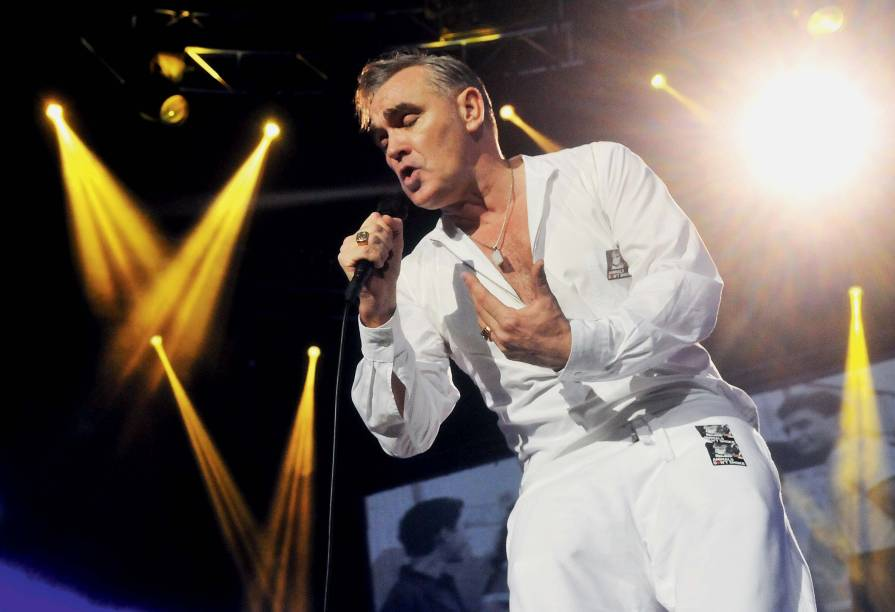 LONDON, ENGLAND - NOVEMBER 29:  Morrissey performs live on stage at 02 Arena on November 29, 2014 in London, England.  (Photo by Jim Dyson