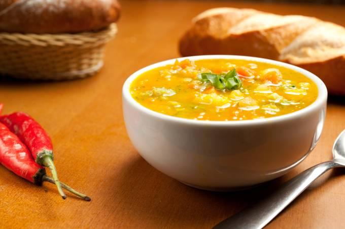 Sopa da padaria Empório Moema.