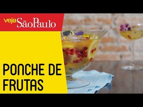 Receita: Ponche de Frutas