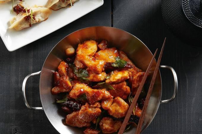 P.F. Chang's-frango-panela wok