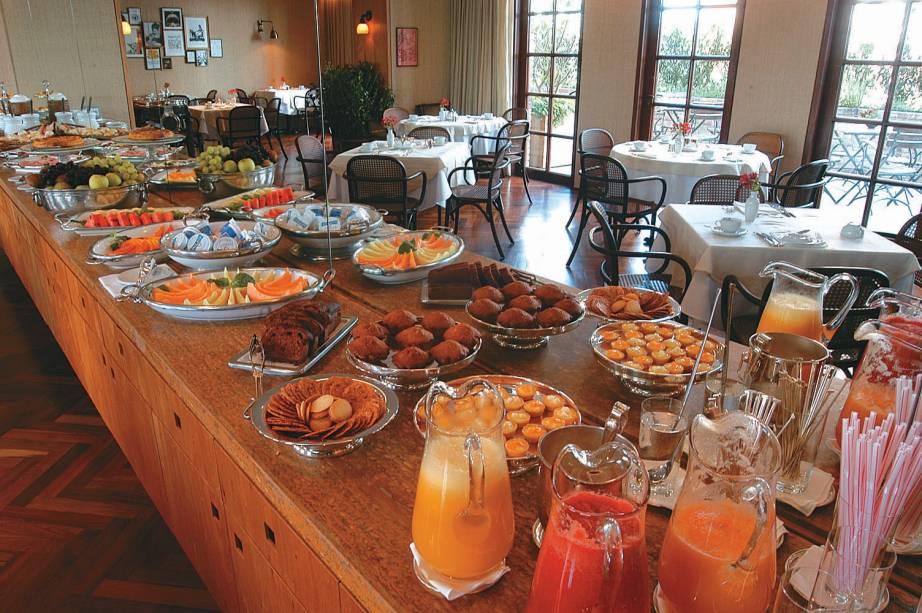 Café da manhã do restaurante Nonno Ruggero do hotel Fasano
