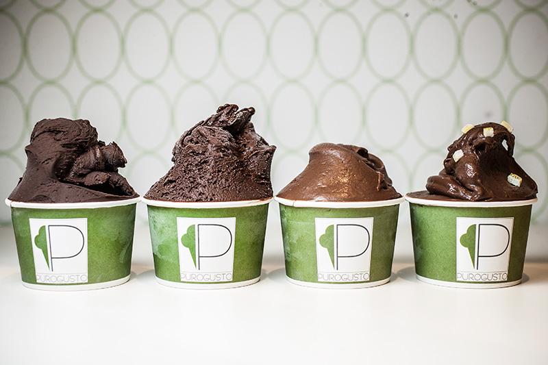 As quatro opções de chocolate livres de lactose