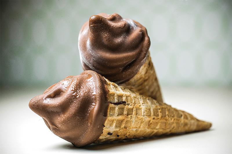 As minicasquinhas com sorvete