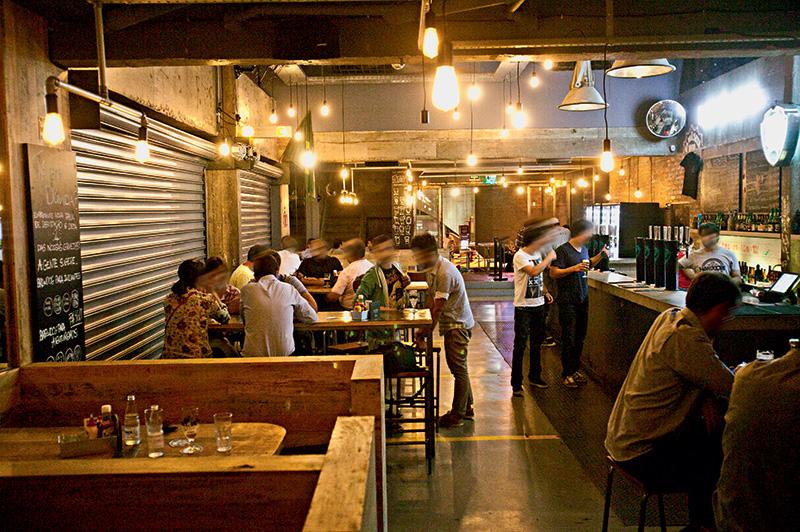 O salão: para tomar boas cervejas importadas