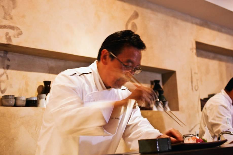 O chef Shin Koike