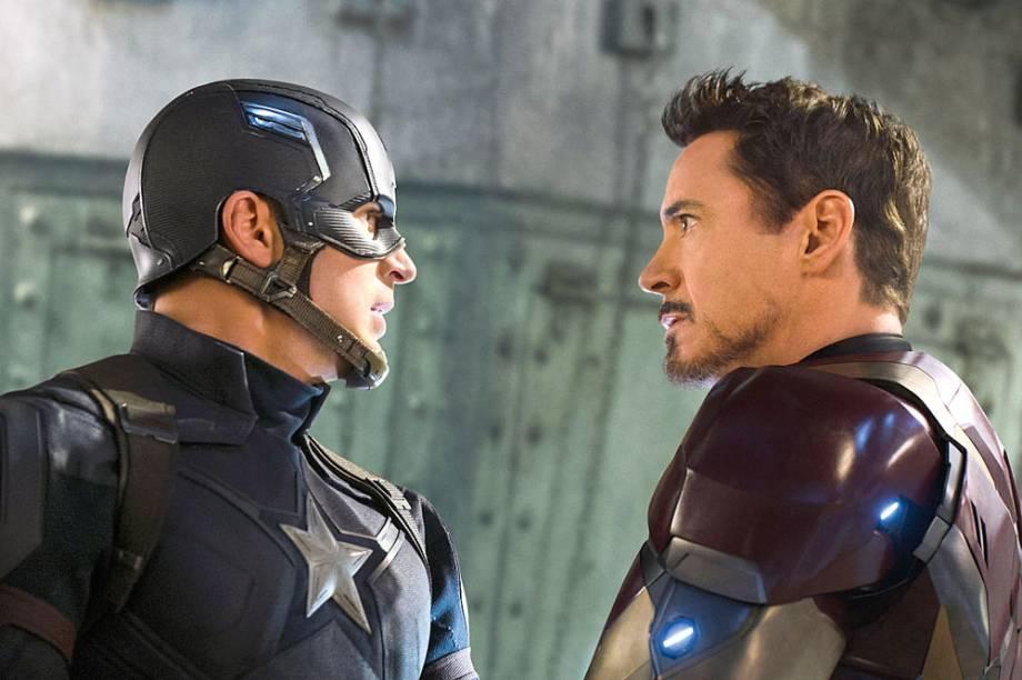 Chris Evans e Robert Downey Jr.: separados por uma desavença política