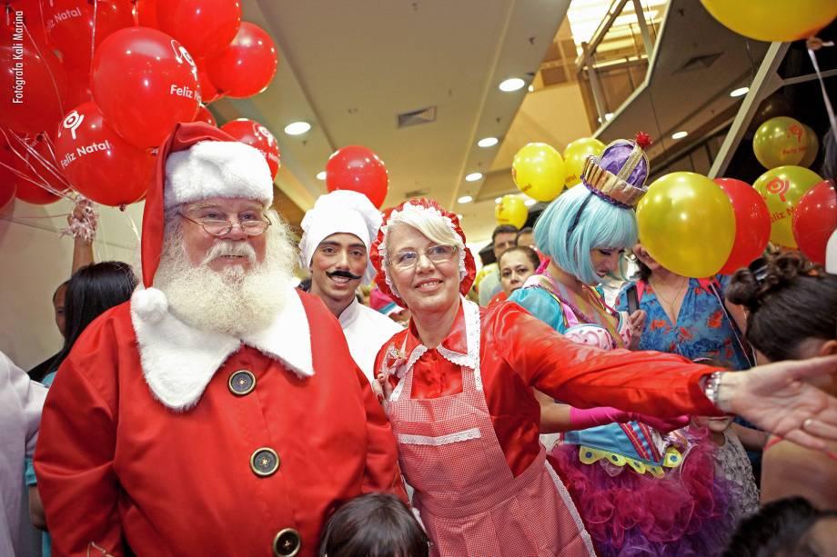 O Papai Noel pode ser visto no Shopping Ibirapuera