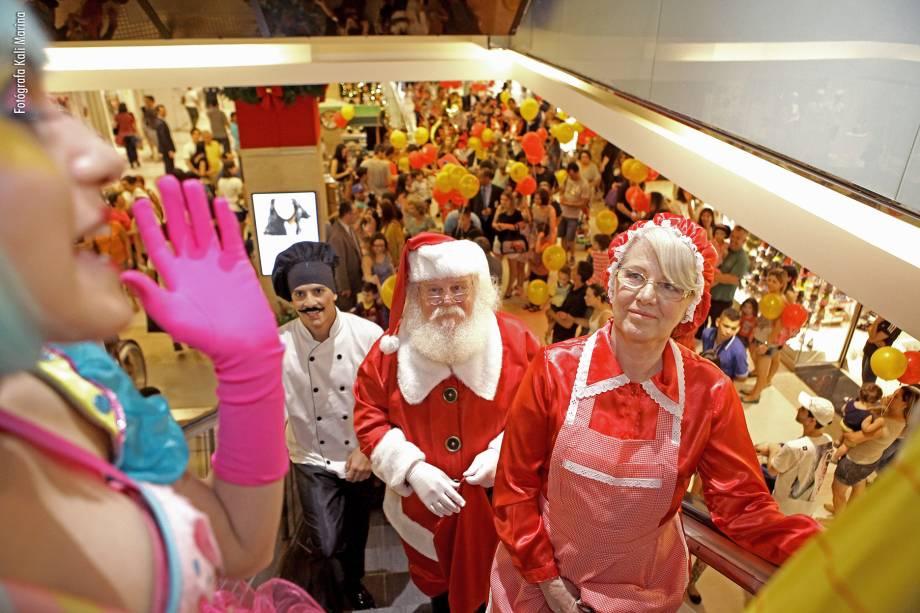 Decoração natalina é inspirada no filme A Invenção de Hugo Cabret