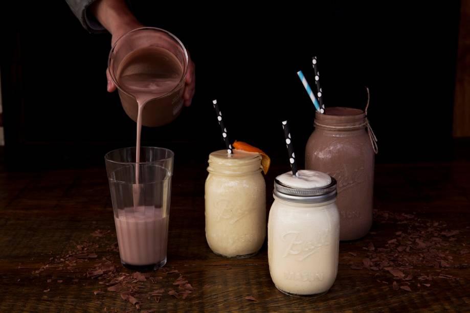 Cadillac Burger: milk-shakes de laranja, baunilha e chocolate feitos com sorvete artesanal