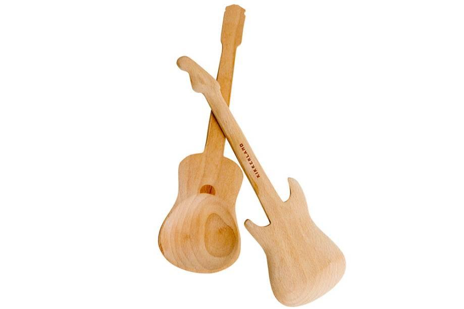 Colheres de madeira para servir, R$ 80,00 o par. AMPamulherdopadre.
