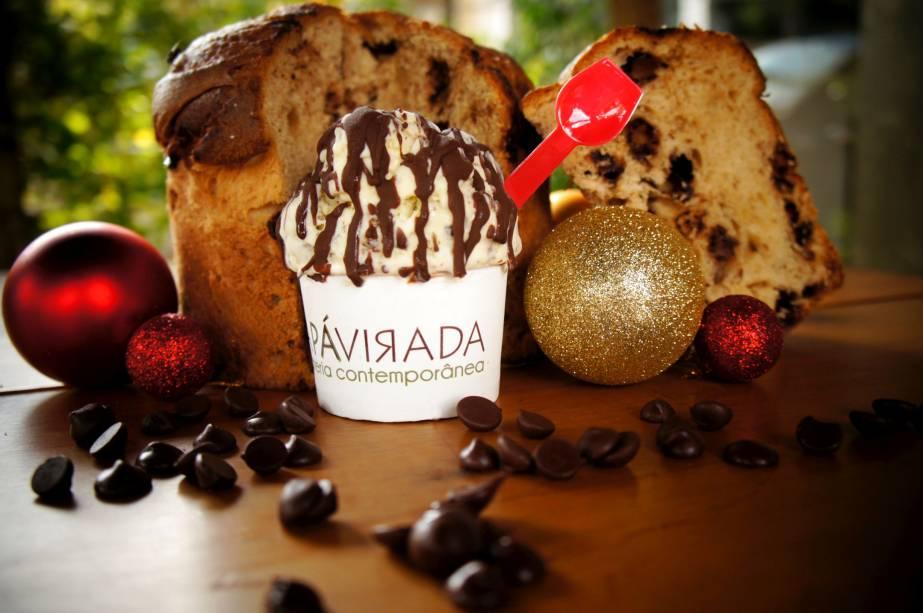 Da Pá Virada: sorvete sabor chocotone