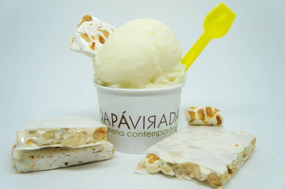 Da Pá Virada: sorvete sabor torrone