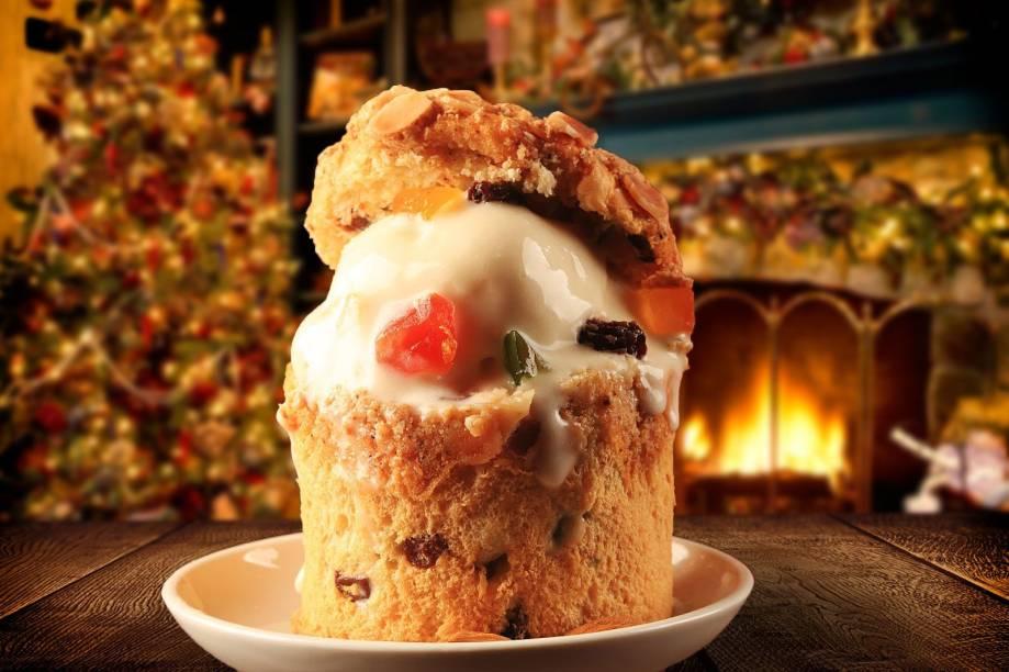 Casa do Panetone: minipanetone de frutas cristalizadas recheado de sorvete