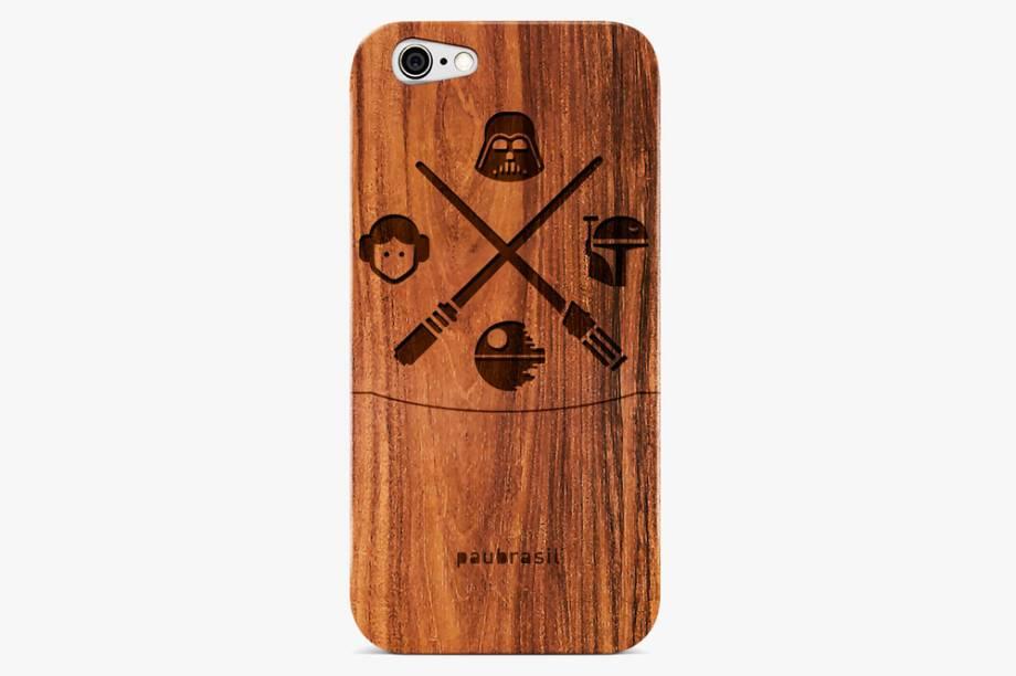 Capinha para celular de madeira