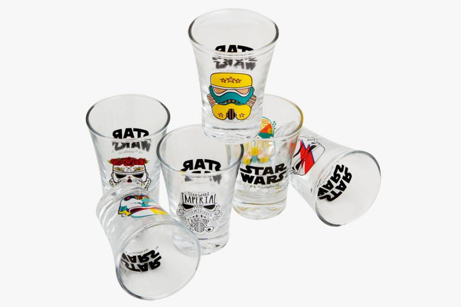 Conjunto de seis copos de shot
