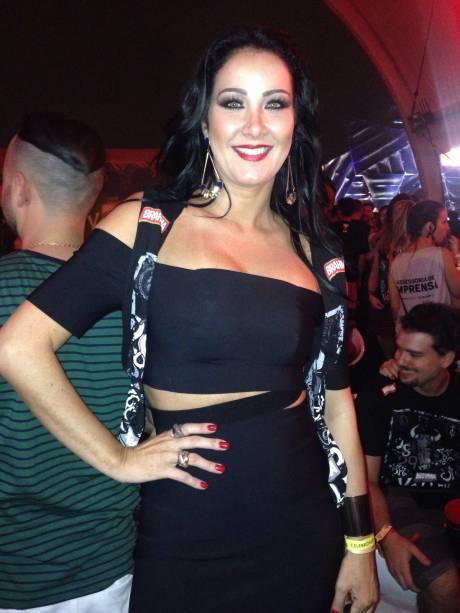Helen ganzarolli também fez a festa no festival