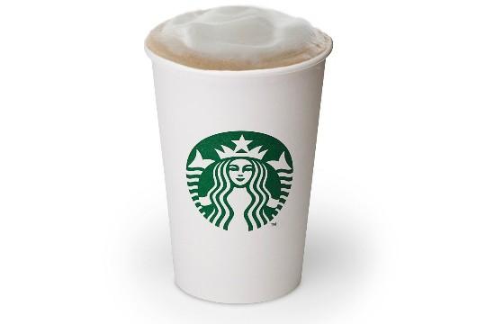 Chai latte, da Starbucks: leite com mistura concentrada de chai e espuma de leite