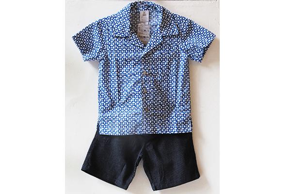 Moda infantil: camisa azul estampada (67 reais) e bermuda jeans (71,50 reais) na Paola da Vinci (Rua Oscar Freire, 958, Jardins)