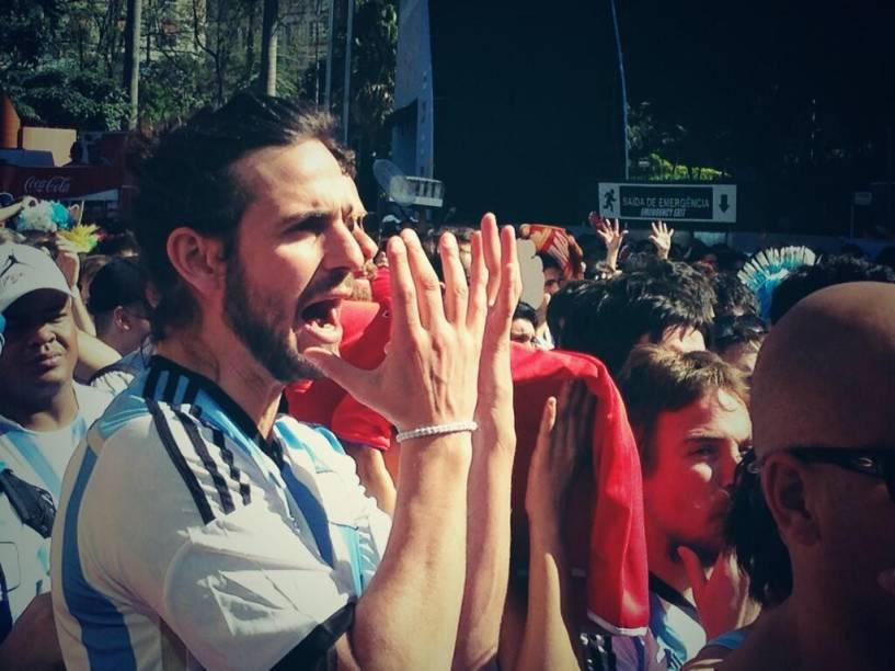 Sofrimento na concentração da Fifa Fan Fest