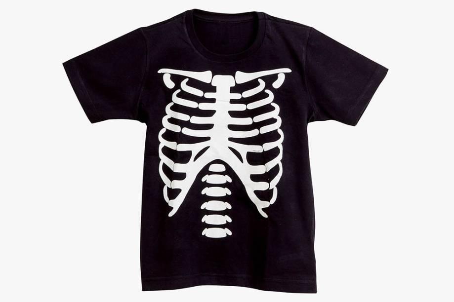 Camiseta infantil de esqueleto