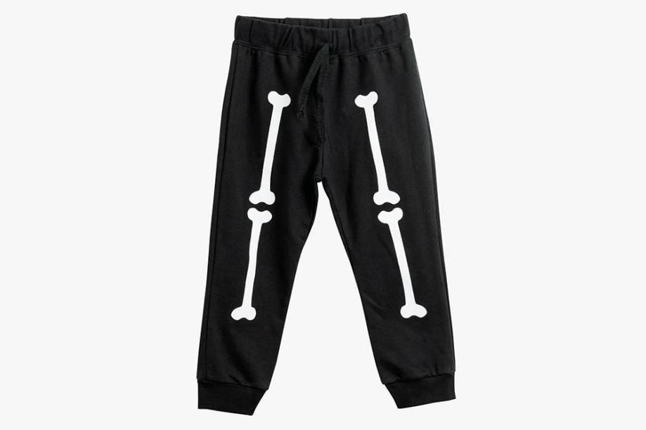 Calça infantil de esqueleto