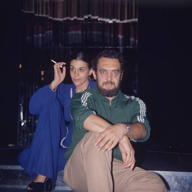 Miele e a atriz Sandra Brea