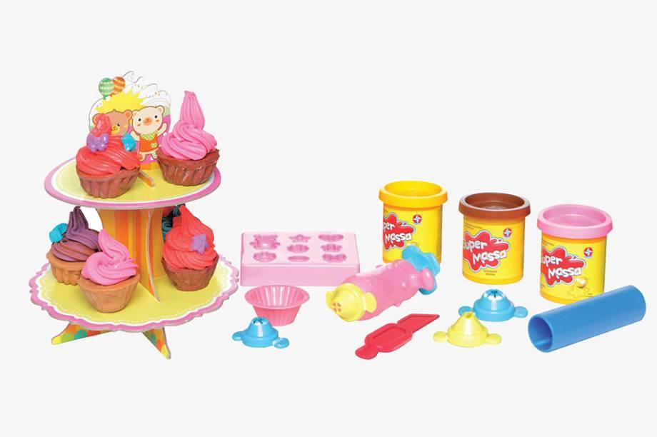 Kit para fazer cupcakes de massinha