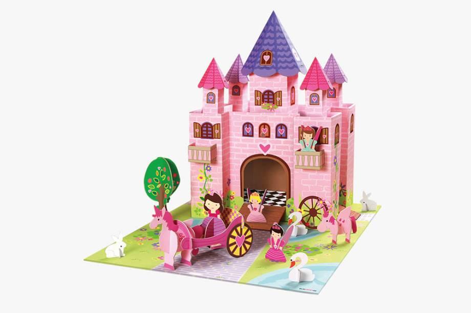 Castelo de papelão para montar