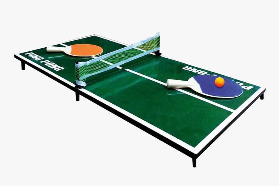 Kit de pingue-pongue com mesa, rede, raquetes e bola