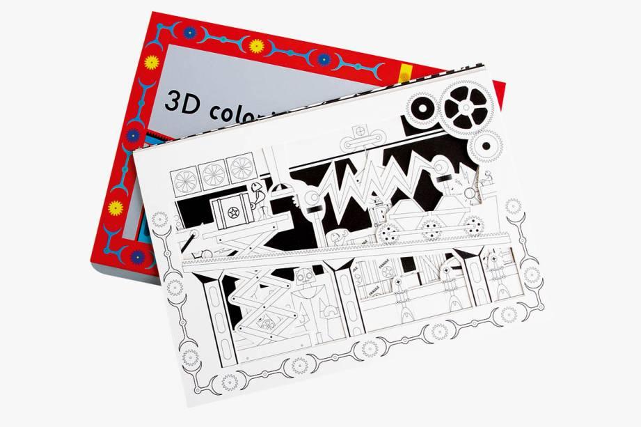 Robôs cartonados para montar e colorir