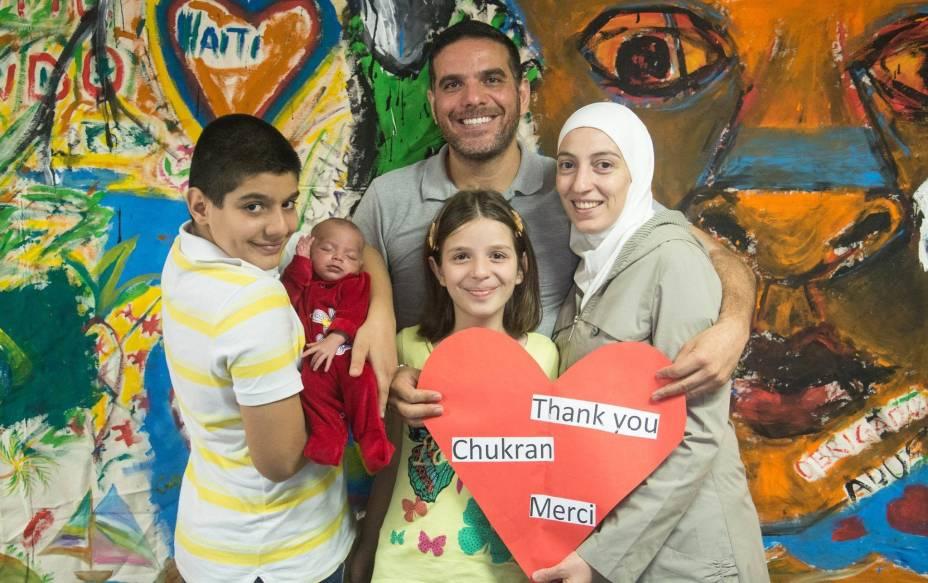Talal Al-Tinawi e família reconstroem a vida em São Paulo