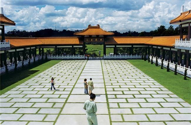pátio do templo zu lai