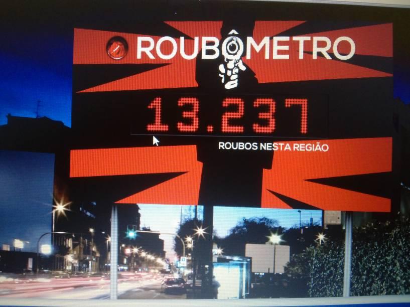 """Projeto do """"Roubômetro"""", para chamar atenção das autoridades da violência no bairro"""