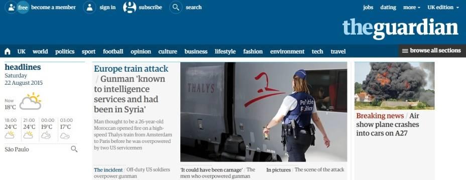 The Guardian: suspeito passou pela Síria