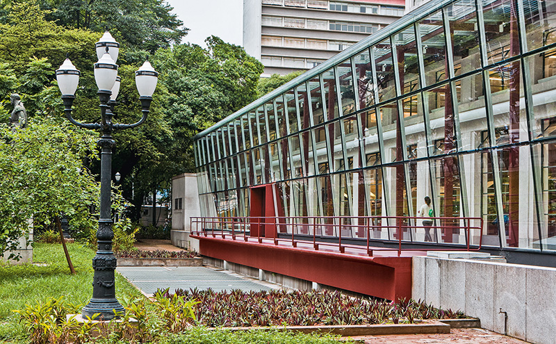 Biblioteca Mário de Andrade, no centro