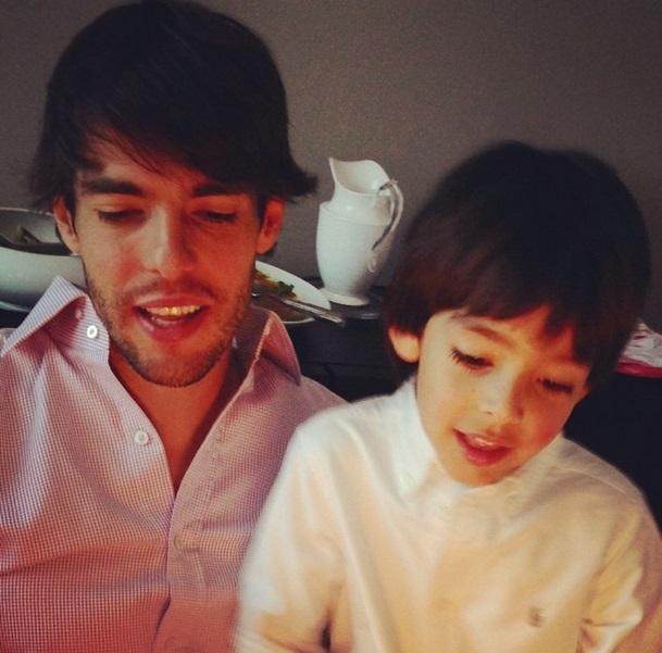 Kaká comemora o aniversário do filho, Luca
