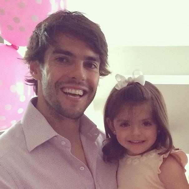 Kaká e a pequena Isabella