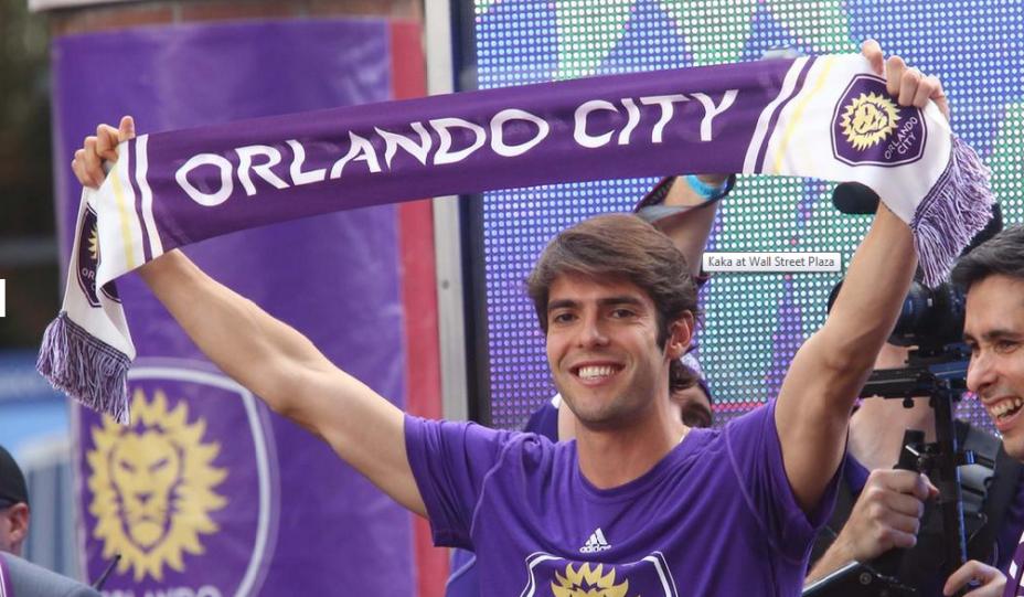 Kaká com a camisa do Orlando City: salário anual de 7,1 milhões de dólares