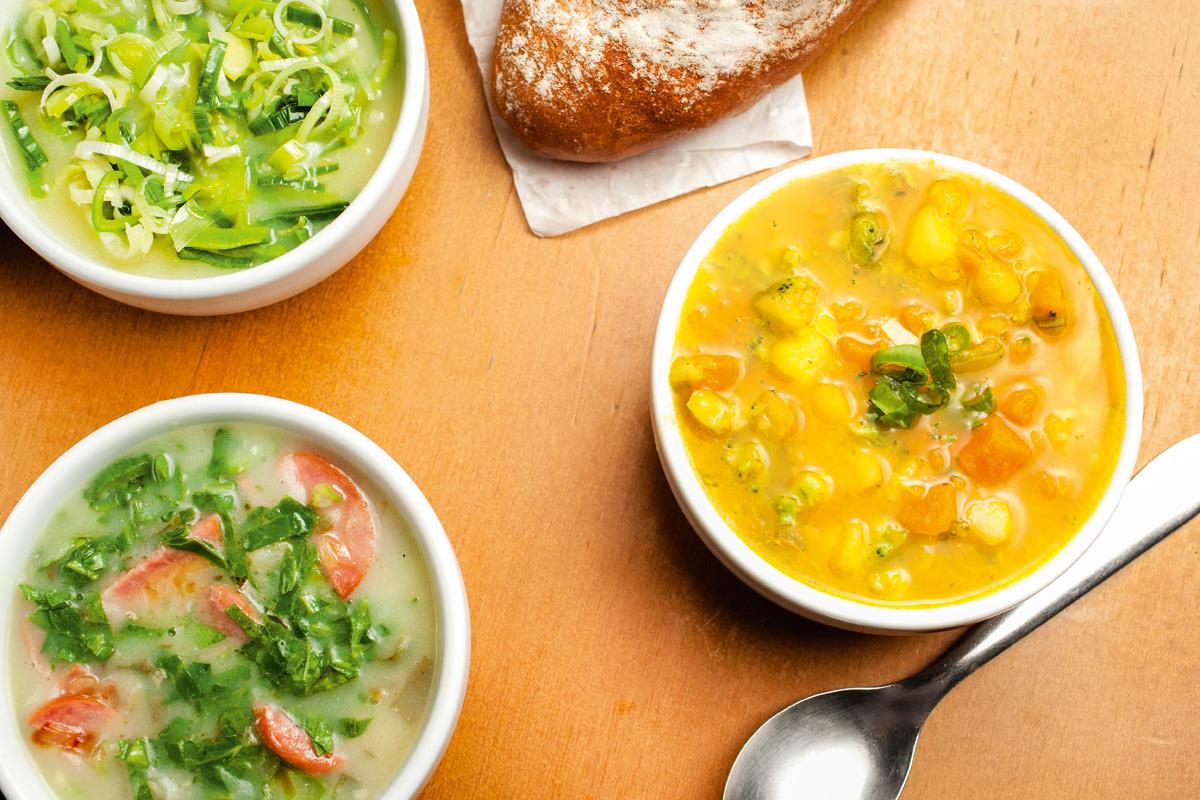 Empório Moema - bufê de sopa - padaria