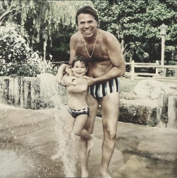 Silvio Santos com o sobrinho Maurício Abravanel