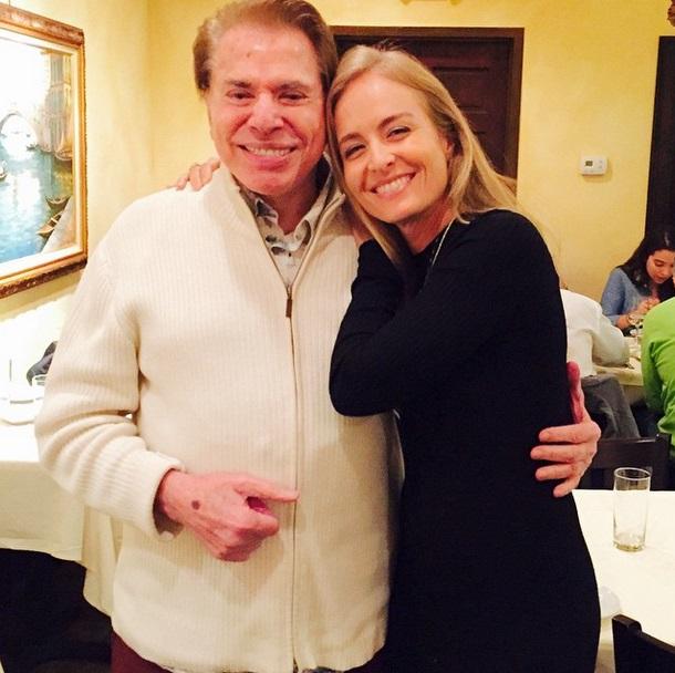 Patrão: Silvio e Angélica, que já trabalhou no SBT
