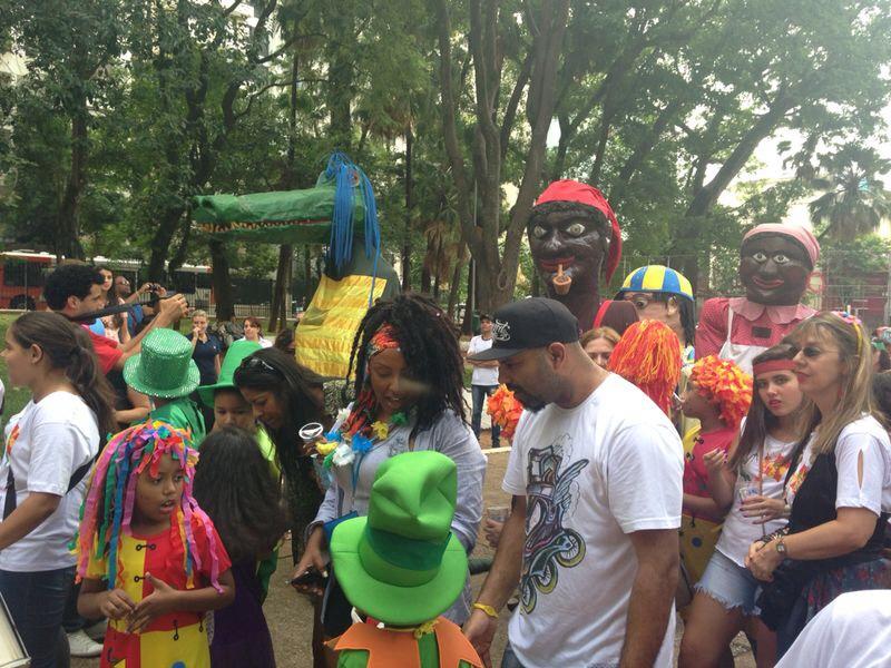 Bloco se reuniu na Praça Rotary, na Vila Buarque