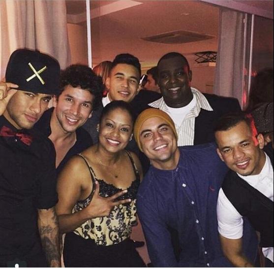Neymar foi o mais fotografado da noite