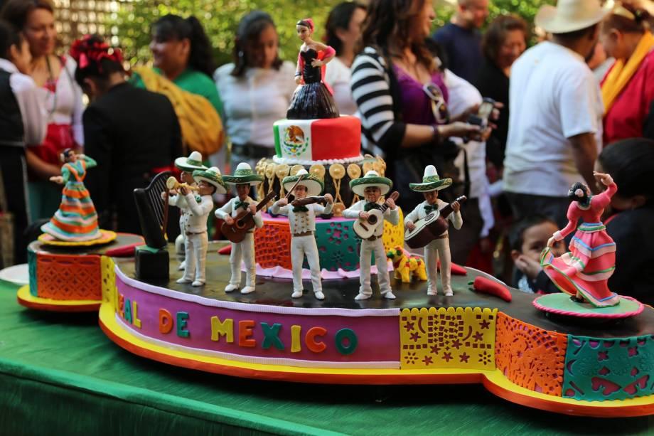 Uma homenagem ao México em forma de bolo