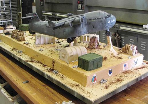 Entre as criações do Cake Boss, um avião decolando