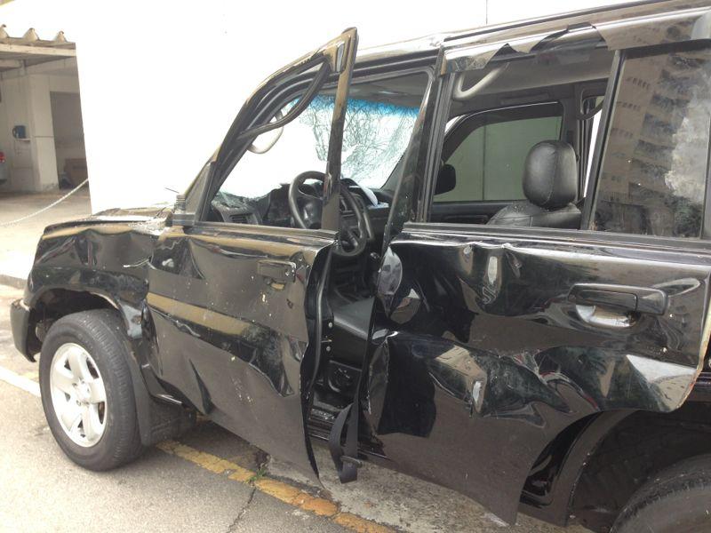 O carro que atropelou foliões de blocos na Vila Madalena