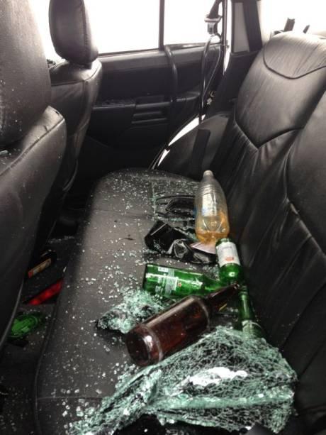 Garrafas dentro de carro que atropelou pedestres na Vila Madalena