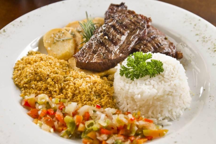 Picanha brasileira: para duas pessoas, o prato custa 55 reais