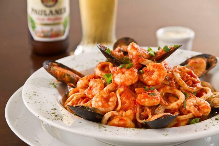 Espaguete com frutos do mar: 42 reais