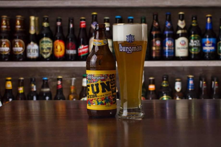 Da carta de cervejas: a Fun Weiss Burgman, produzida em Sorocaba